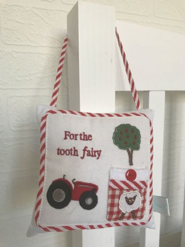 Tractor Tooth Fairy Cushion